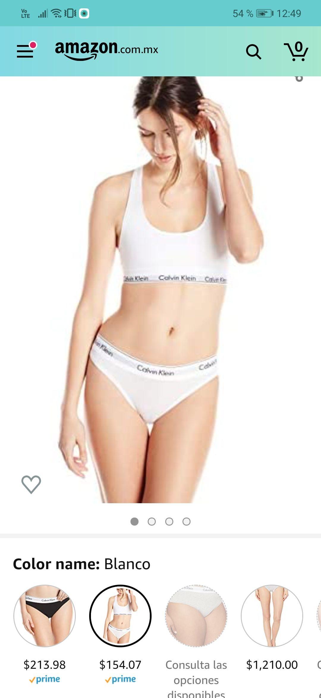 Amazon: Bikini de algodón Calvin Klein