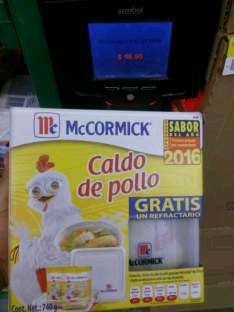 Bodega Aurrera Orizabá: Caldo de pollo McCormick + refractario de regalo