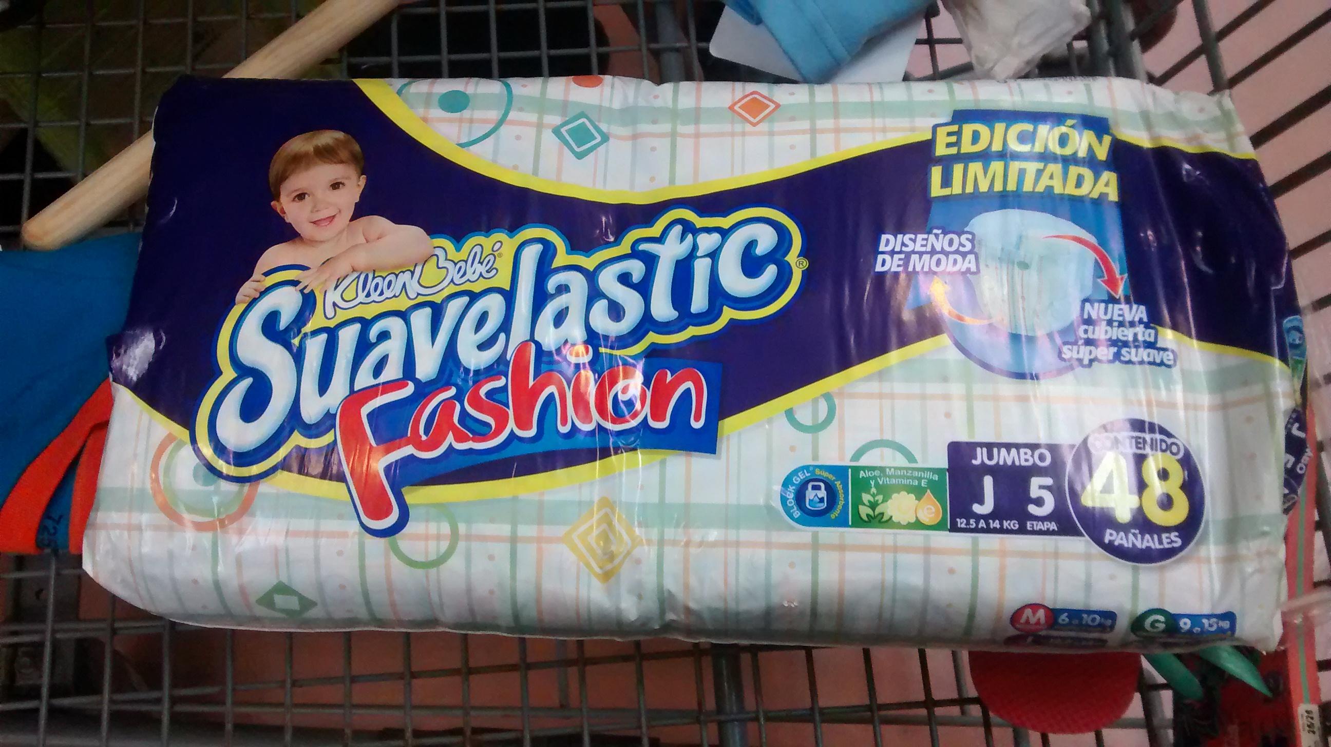 Walmart: pañales suavelastic fashion talla 5 $80.03
