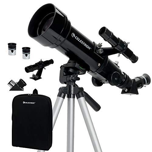 Amazon: Celestron Telescopio de viaje 70 con mochila 3.3 pounds