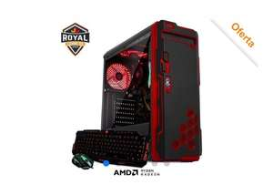 CyberPuerta: Computadora Gamer Xtreme PC Gaming Royal CM-50046, AMD Ryzen 5 3400G 3.70GHz, 16GB, 480GB SSD, FreeDOS