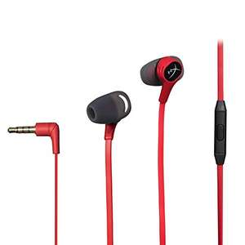Amazon: HyperX Cloud Earbuds - Audífonos para gaming portátiles con micrófono para Nintendo Switch y Mobile Gaming (HX-HSCEB-RD)