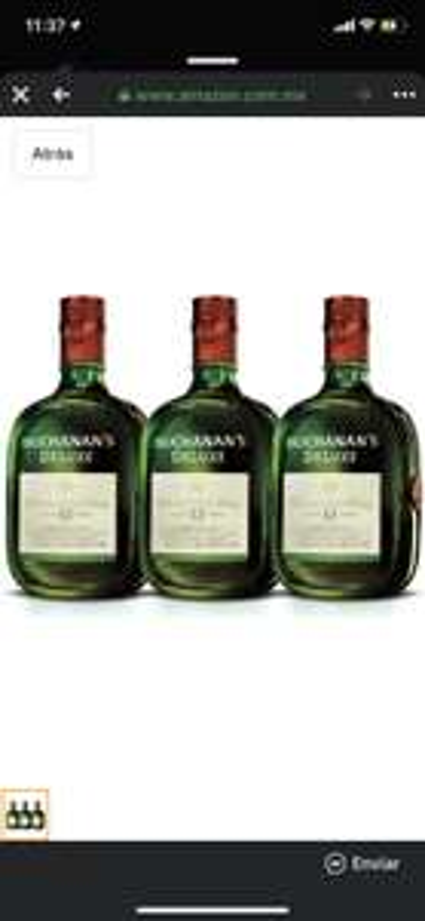 Amazon: 3 botellas Buchanan's 1lt
