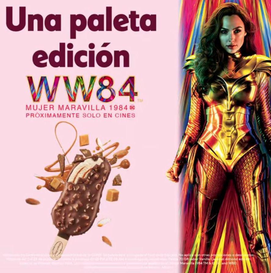 Cinemex CDMX: GRATIS Paleta Häagen-Dazs Edición Wonder Woman si vas al Cine