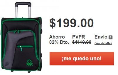 MeQuedoUno: Maleta Benetton $199 (posible envio gratis con cupón)
