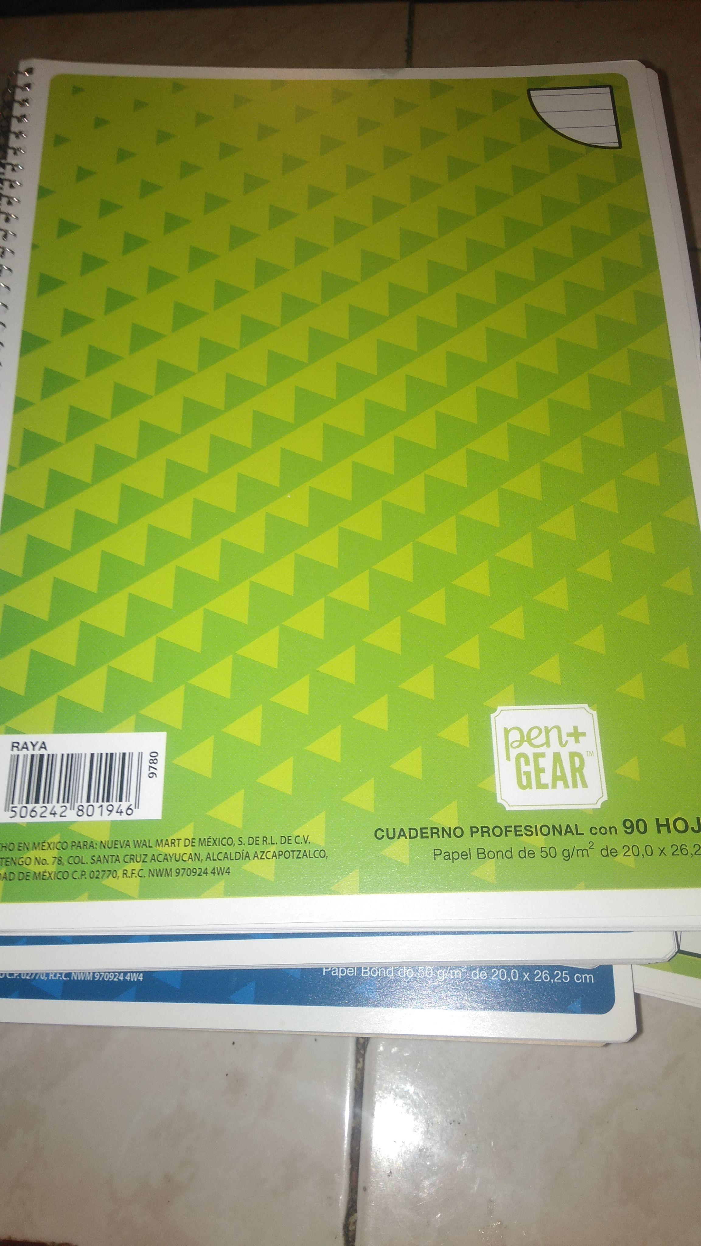 Bodega Aurrerá: Cuaderno de raya 5x25 90 hojas.