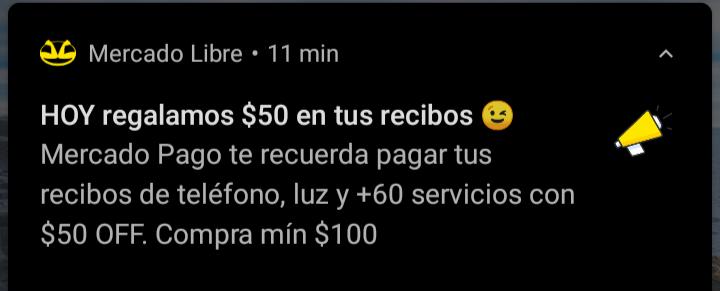 MERCADOPAGO APP $50 DE REGALO SERVICIOS USUARIOS SELECCIONADOS