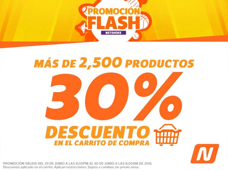 Netshoes Promoción Flash: 30% de descuento en artículos seleccionados + cupón de $100