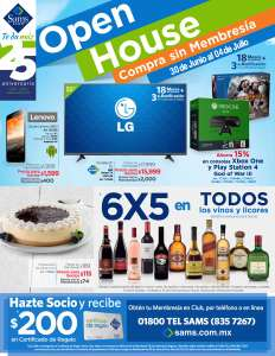 Sam's Club Open House: folleto de ofertas del 30 Junio al 04 Julio 2016