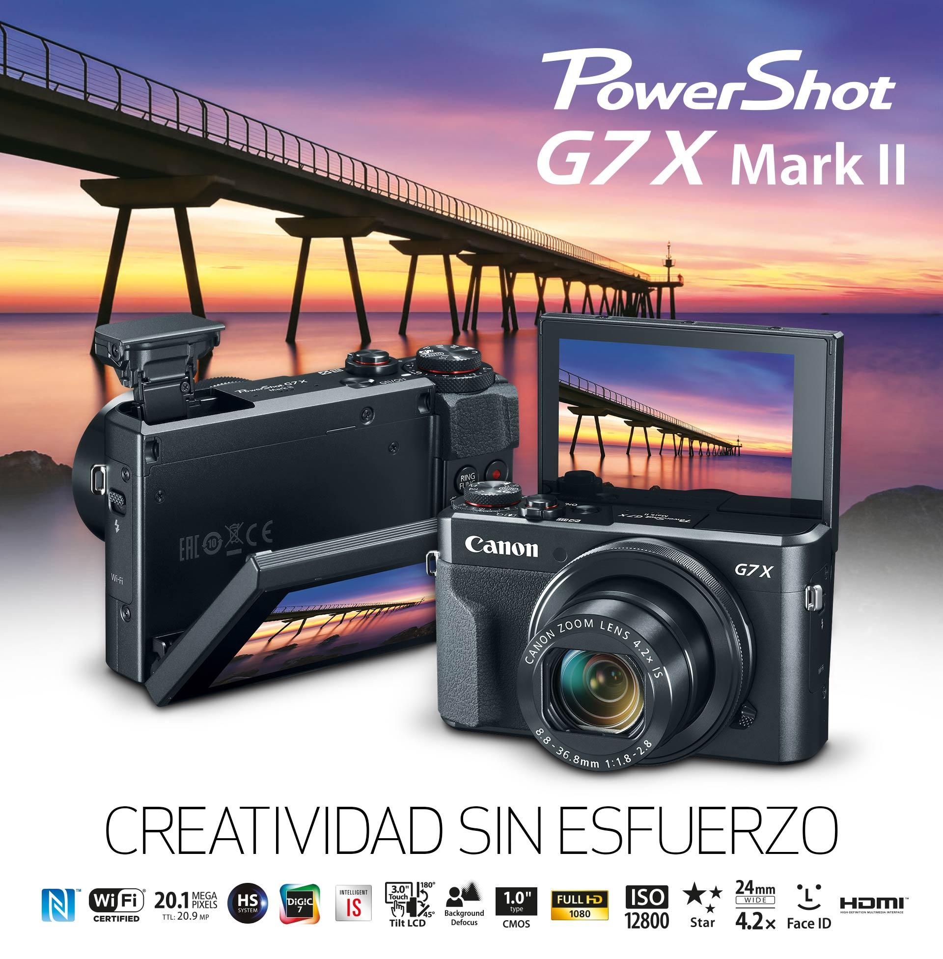 Tienda Canon, Cámara Powershot G7X Mark II