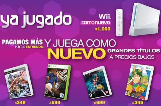 Videojuegos seminuevos: venta especial en Game Rush y Wii a $1,000 en Gamers