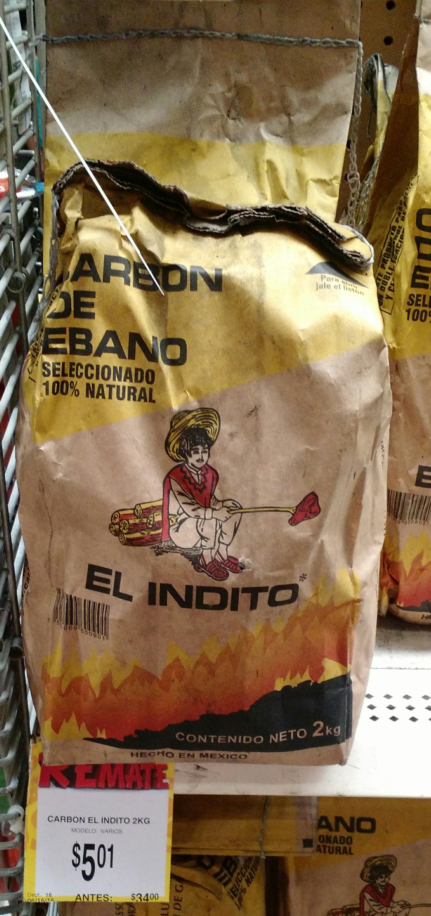 Bodega Aurrerá Ixtepec Oaxaca: bolsa de carbón 2kg a $5.01