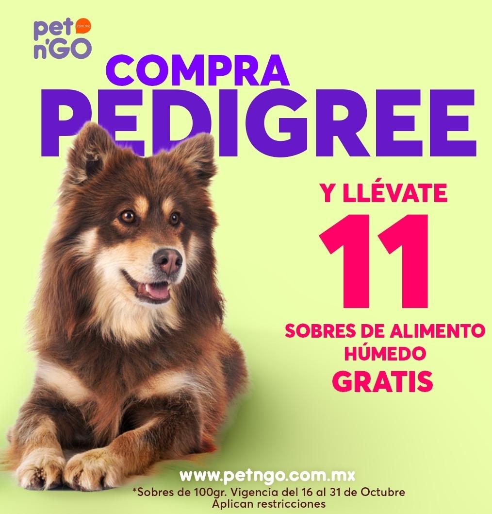 Pet N Go: 11 sobres gratis de alimento húmedo en la compra de bulto de Pedigree