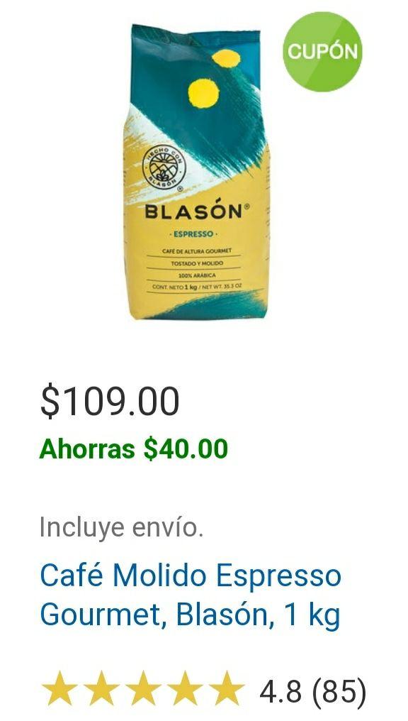 Costco, Café molido Espresso Blasón 1 Kg (en línea)
