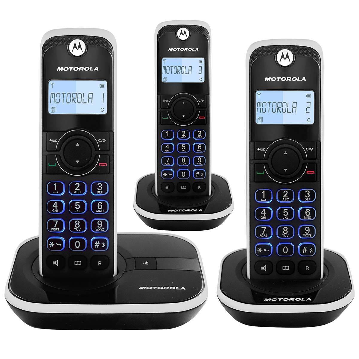 Costco: Motorola, Teléfono Inalámbrico 3 Auriculares