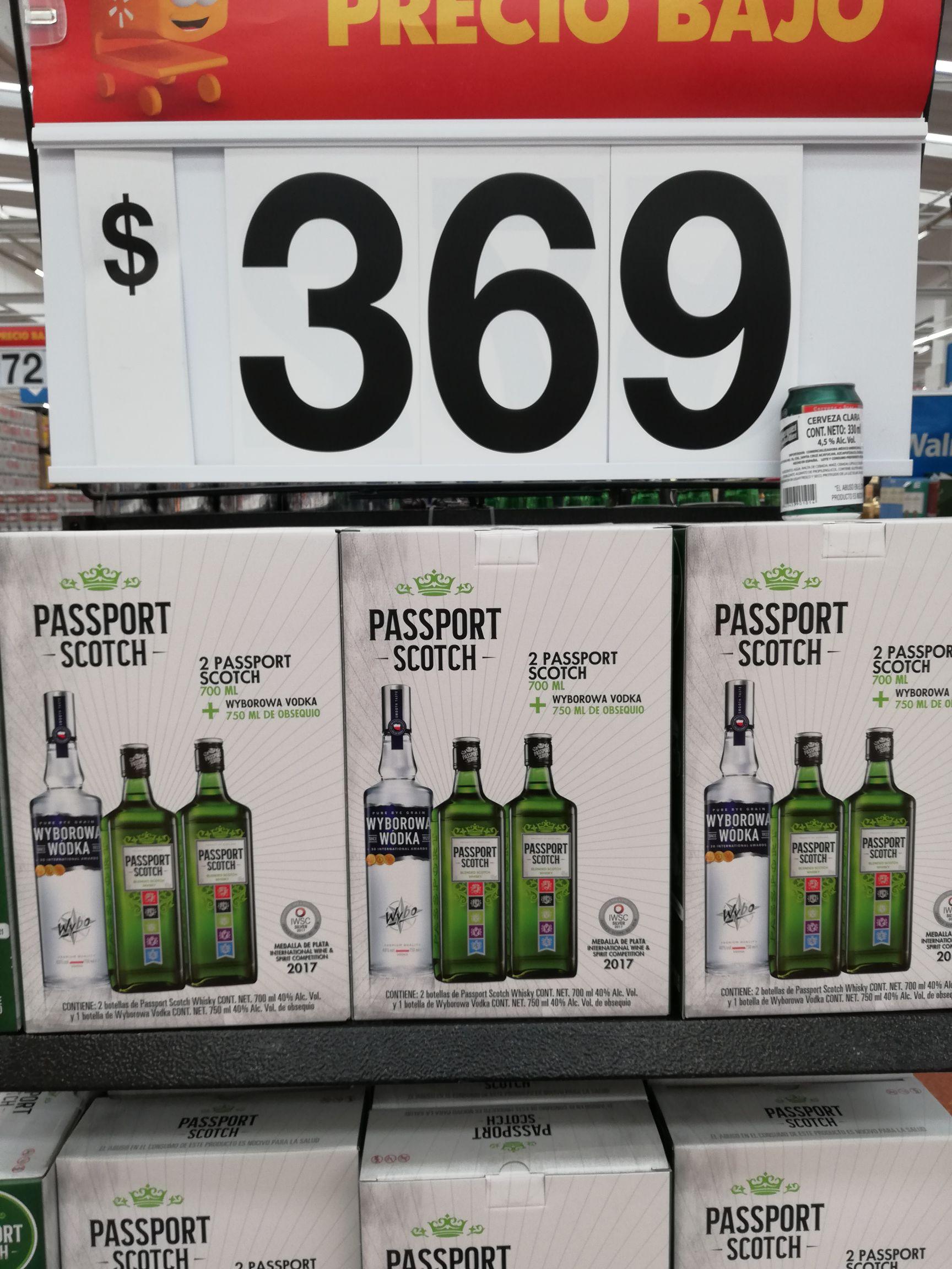 Walmart: 2 whiskey passport 700ml. + 1 vodka wyborowa 750ml