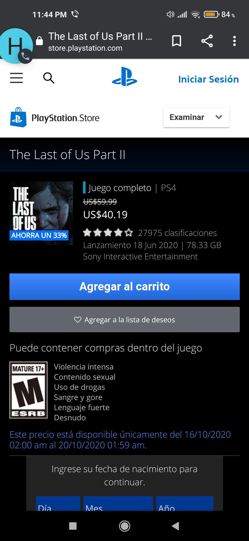 PSN: The Last of Us 2 (Edición digital)