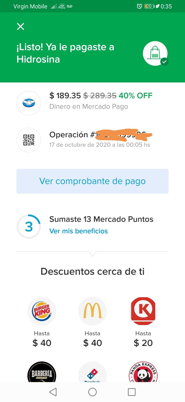 MERCADO PAGO Descuento del 40% (Máximo $100.00 pejecoins) en Gasolinera BP