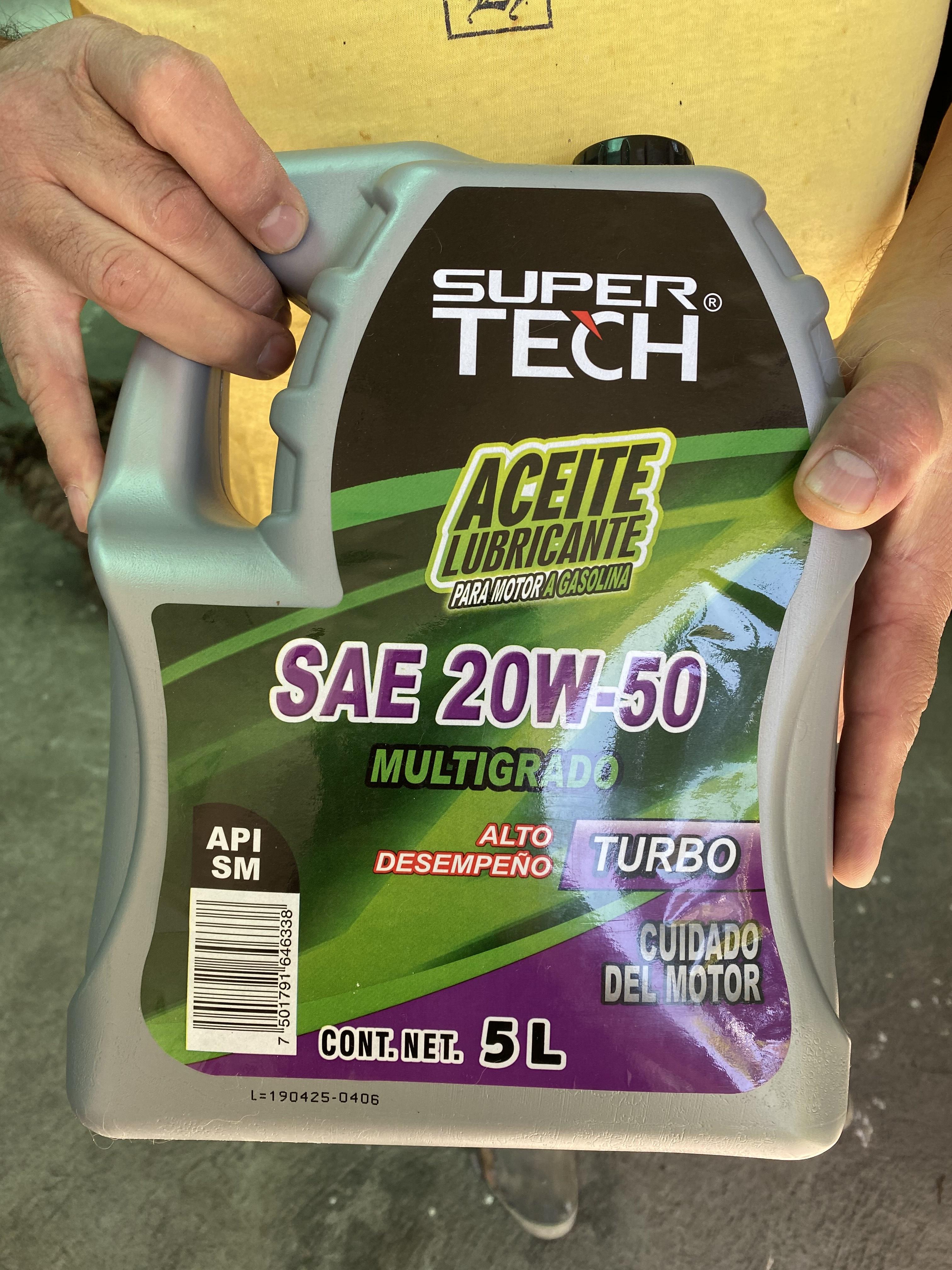 Walmart: Aceite Automotriz Super Tech 5L 20W-50