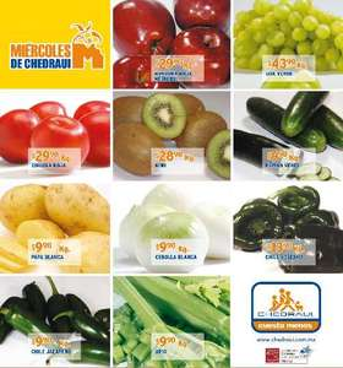 Miércoles de frutas y verduras Chedraui octubre 17: papaya $11.50, zanahoria $6.90 y más