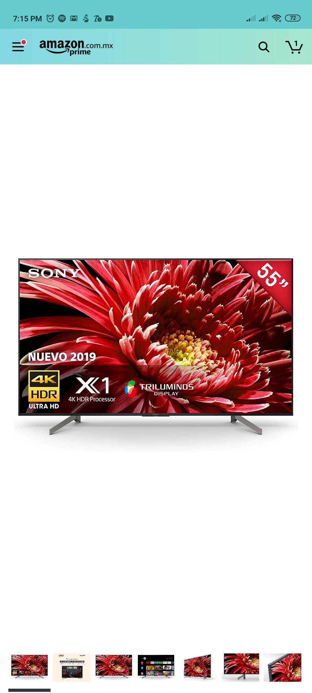 Amazon: TV Sony x850g 55 pulgadas