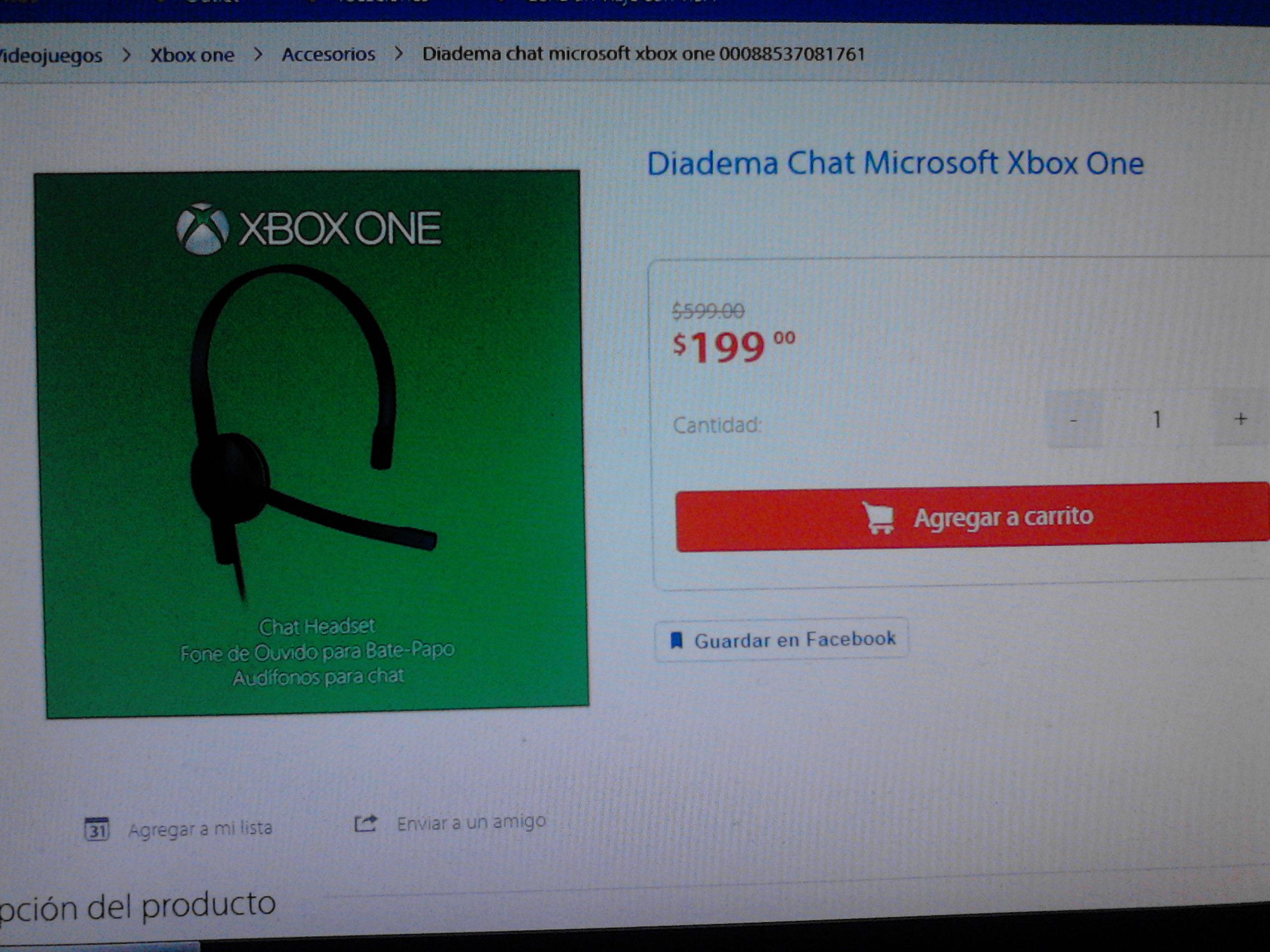 Walmart en línea: Diadema Chat Microsoft Xbox One