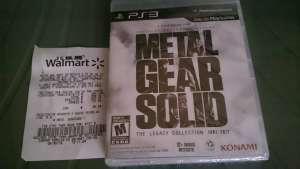 Walmart Plateros: Metal Gear Solid The Legacy Collection PS3