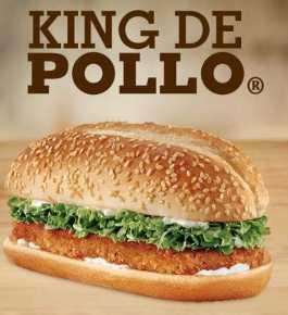 Burger King: 2x1 en King de pollo