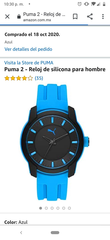 Amazon: Reloj de silicón Puma, sencillo pero bonito