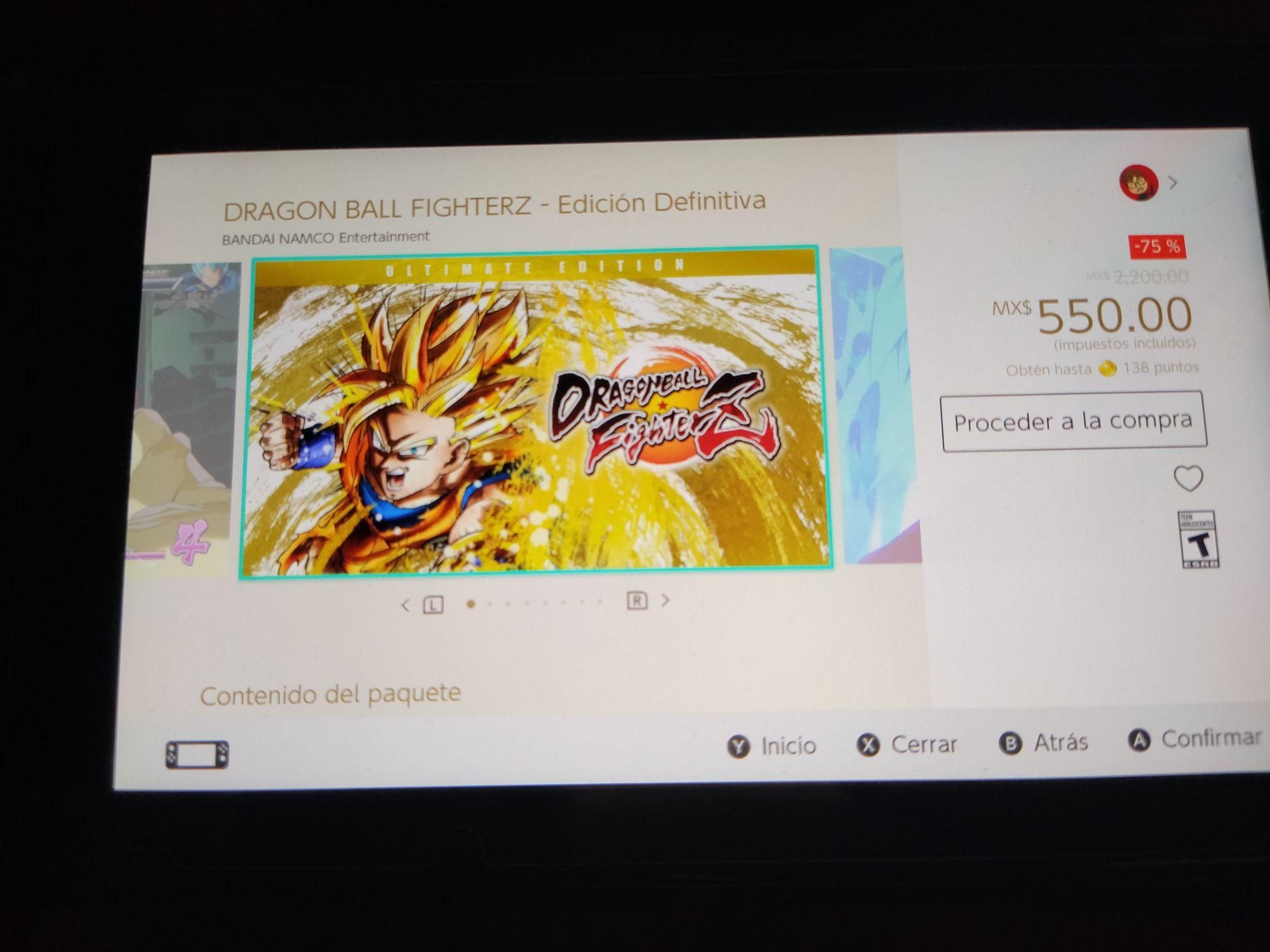 Nintendo eShop: Dragon Ball Fighterz Ultimate Edition