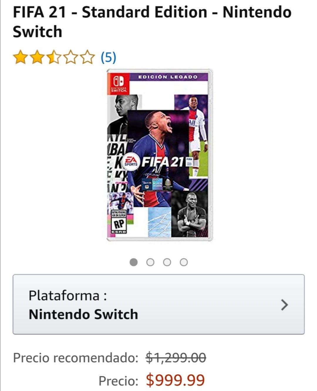 Amazon: Fifa 21 para nintendo switch