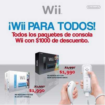 Game Planet: Wii a $1,990. Varias versiones.