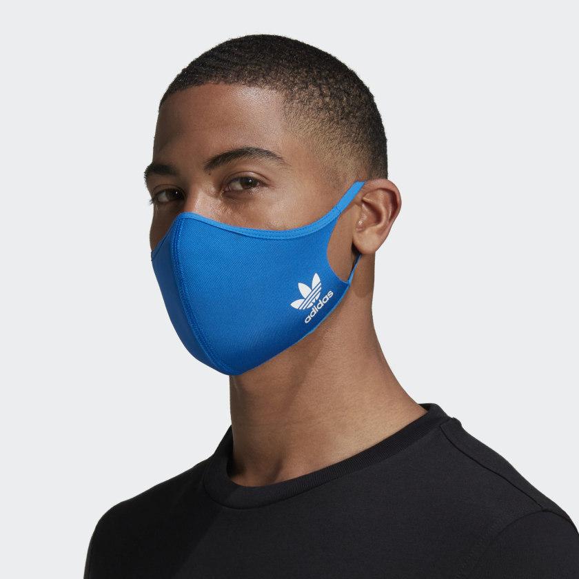 Adidas: Cubrebocas Adidas Paquete de 3 piezas- Azul y Negro (Ya hay de nuevo)
