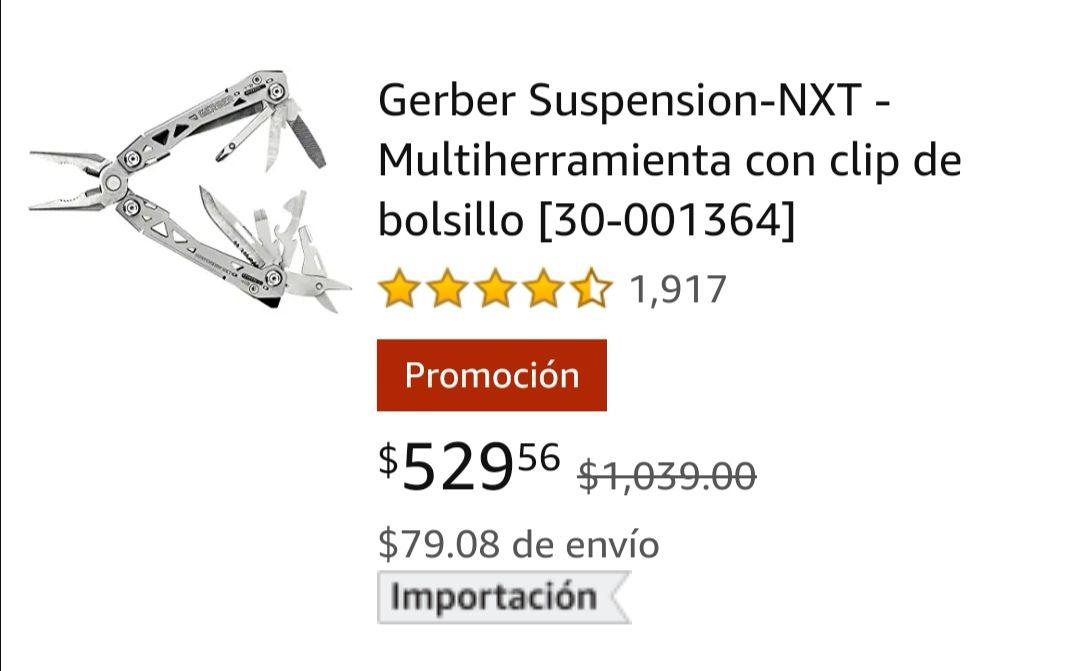 Amazon: multiherramienta Gerber suspensión nxt