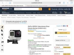 Amazon: GoPro Hero 4 Silver con Descuento y 18 meses sin intereses