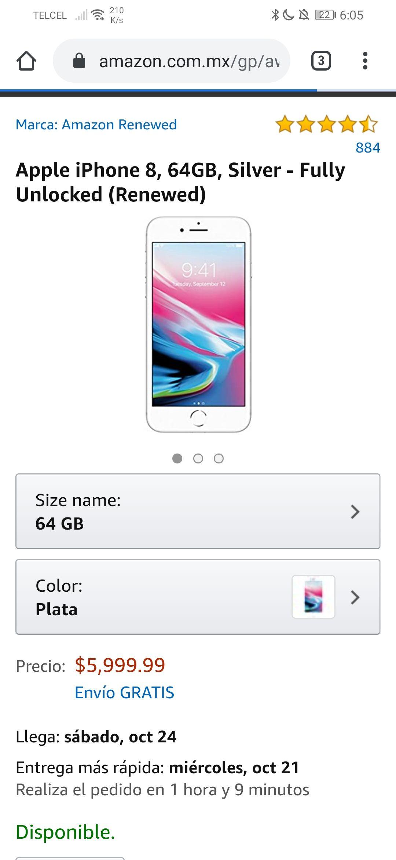 Amazon: IPhone 8 renewed