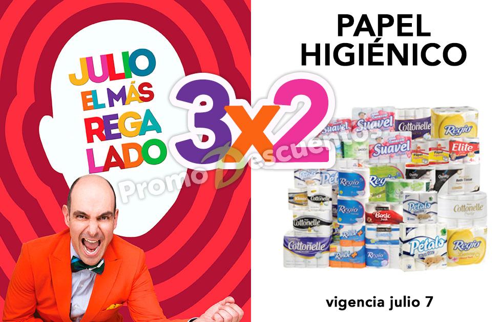 Julio Regalado 2016 en Soriana y Comercial Mexicana: 3x2 en todo el Papel Higiénico