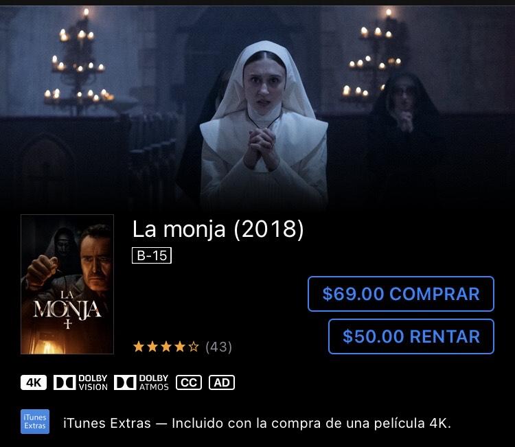 iTunes Store: La monja (2018) y otras películas de terror en descuento