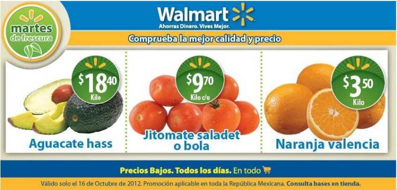 Martes de frescura en Walmart octubre 16: naranja $3.50, jitomate $9.70 y más