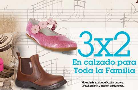 Sears: 3x2 en zapatos para toda la familia