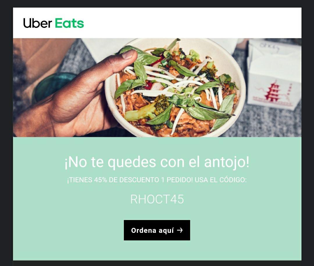 Uber Eats: cupón 70% (usuarios seleccionados)