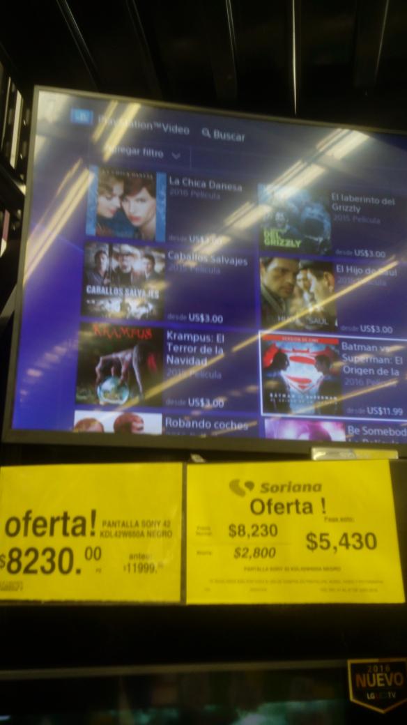 Soriana Domingo Diez: pantalla Sony de 42 pulgadas a $5,430