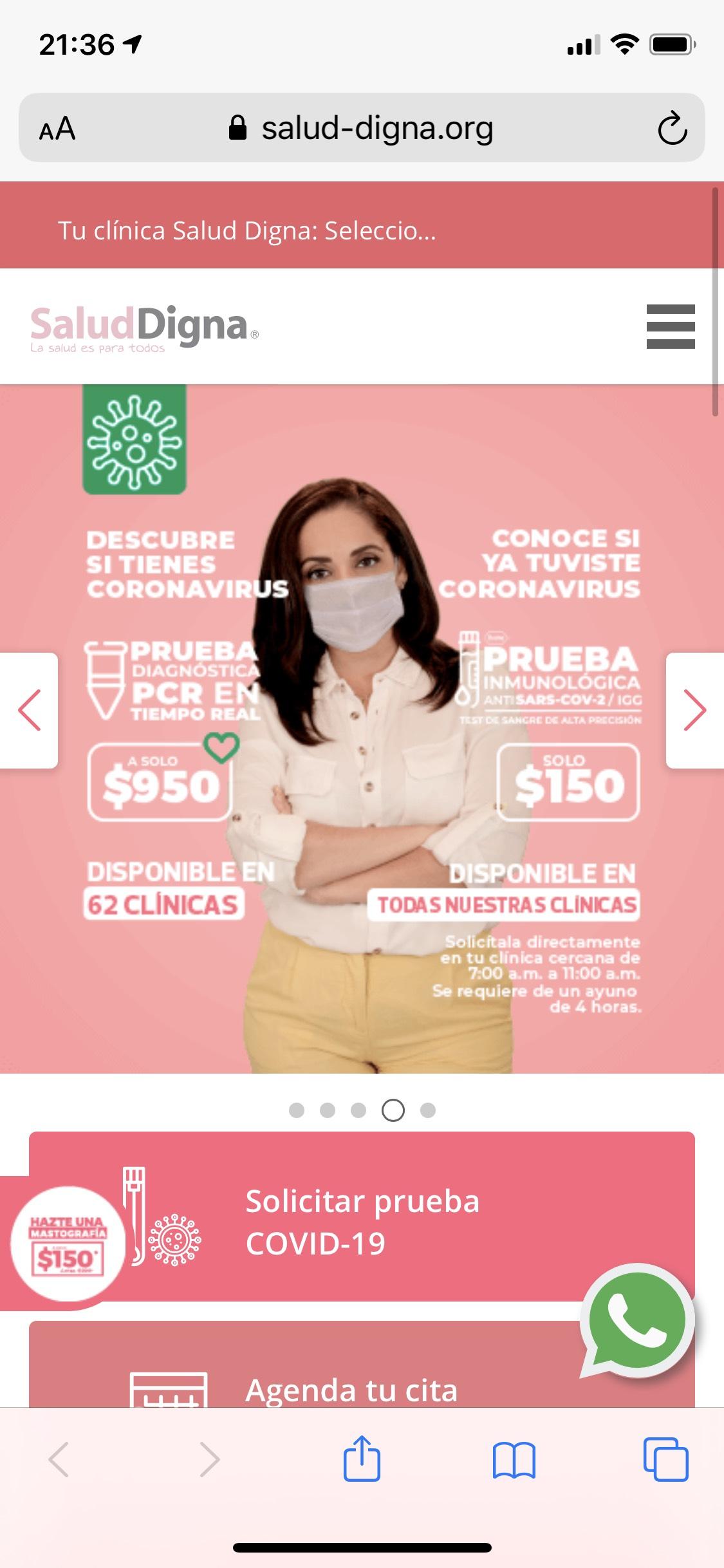 Salud Digna: Prueba COVID-19 por PCR $950