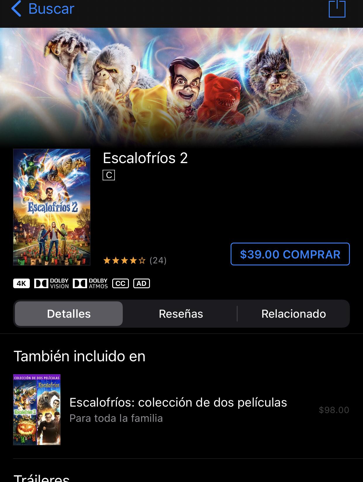 iTunes: Escalofríos 2