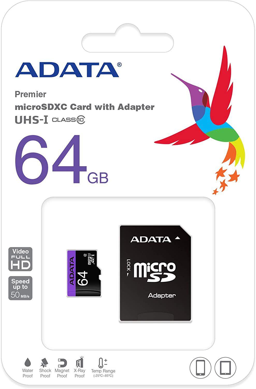 AMAZON: Tarjeta de Memoria 64GB Clase 10
