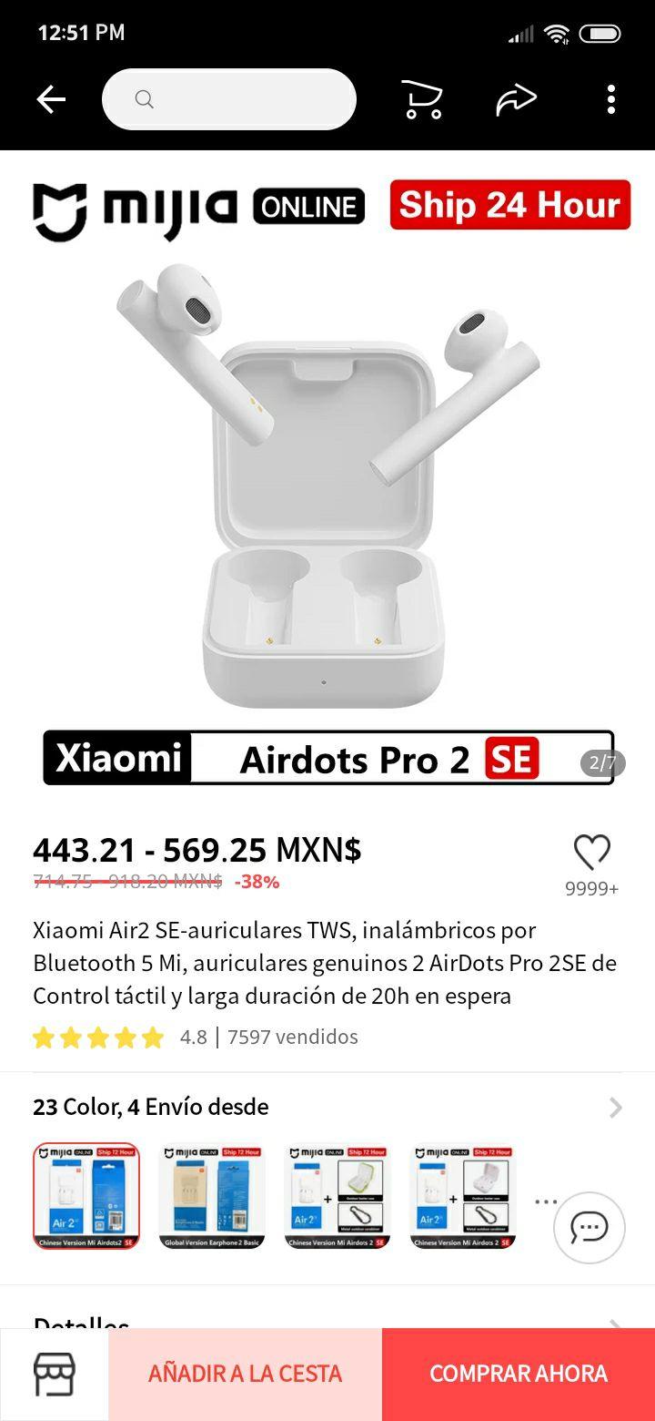 AliExpress: Xiaomi Airdots pro 2 SE