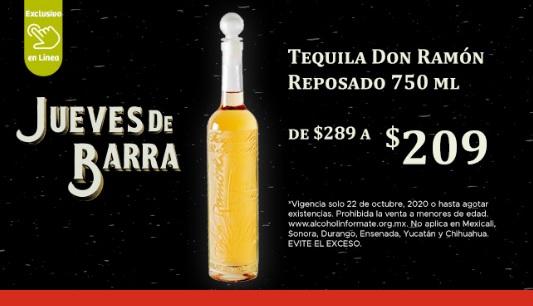 Soriana Online: Jueves de Barra 22 Octubre: Tequila Don Ramón Reposado 750 ml $209