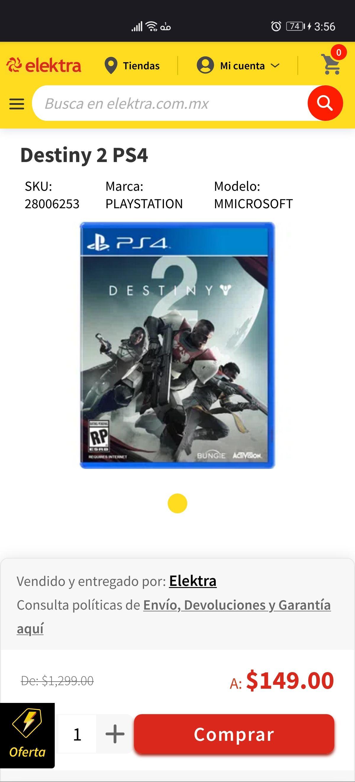Elektra, Destiny 2 PS4
