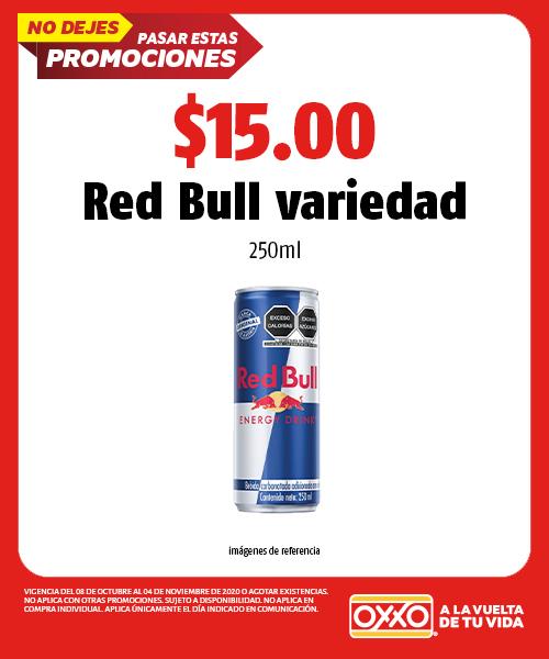 OXXO: RED BULL A SOLO $15 DE $40