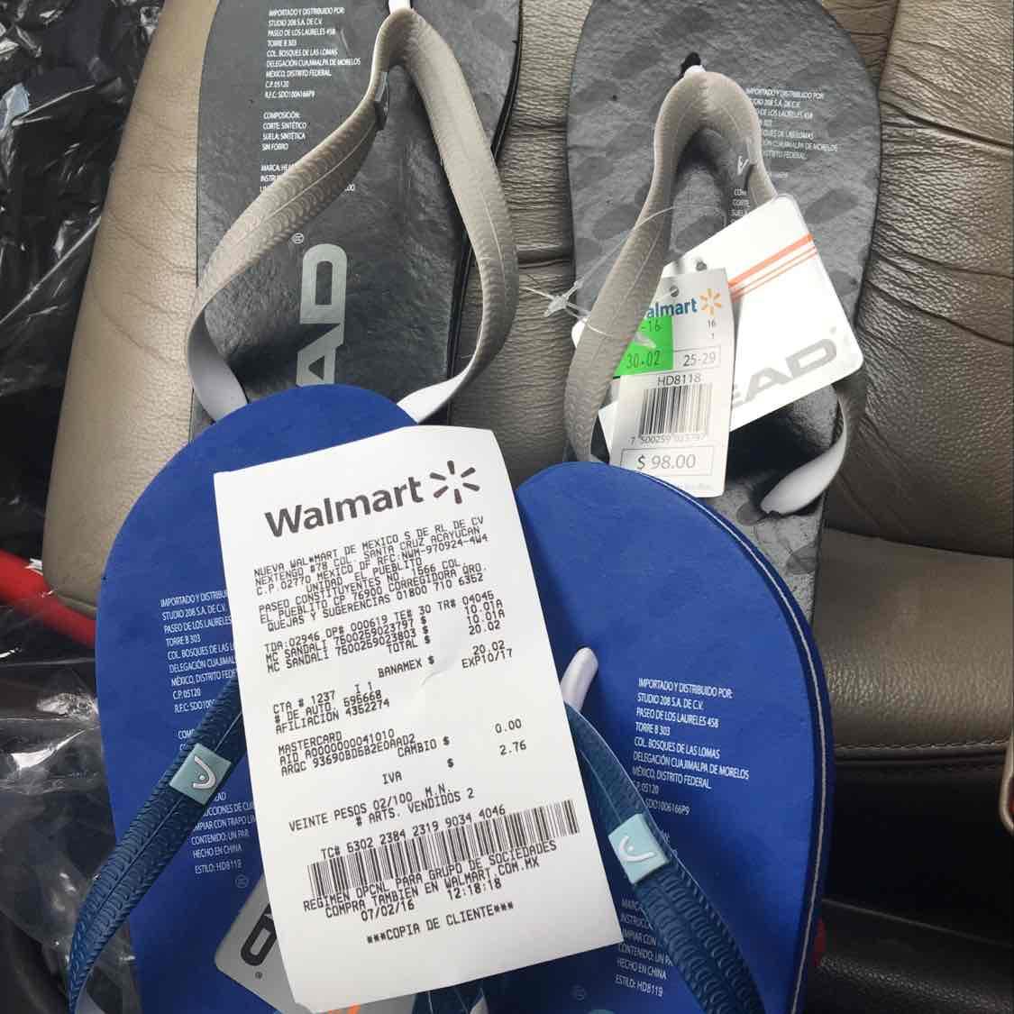 Walmart Unidad el Pueblito: sandalia head super barata a $10.01